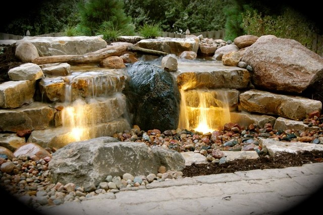 Smith Patio And Pondless Waterfall Contemporary