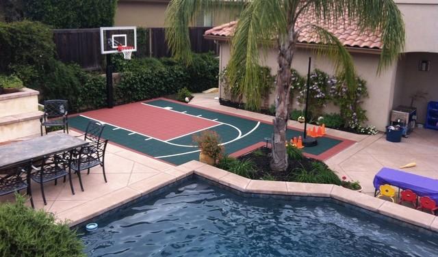 SnapSports®   Kids Size Backyard Basketball Court Landscape