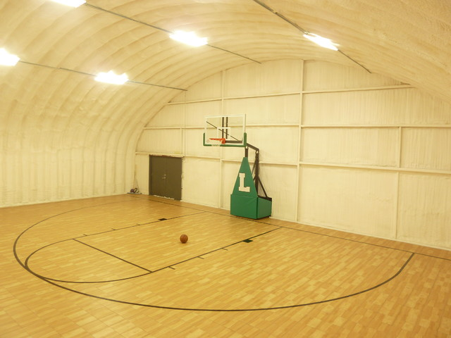 Snapsports arizona home barn to basketball court gym for Indoor sport court cost