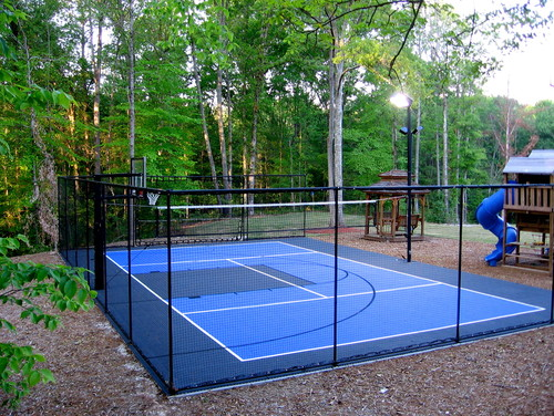 Backyard ideas sports field game court ideas guide for Backyard sport court ideas