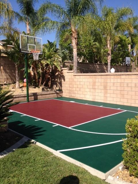 Snapsports Small Backyard Basketball Court Landscape