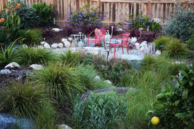Solana Beach Modern Eclectic Landscape Redesign Coastal Garden