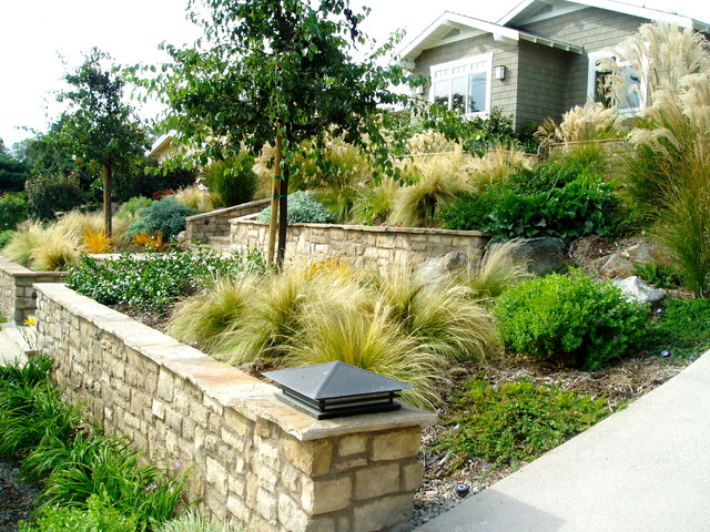 Solana xeriscape cameron flagstone drought tolerant for Craftsman landscape design ideas