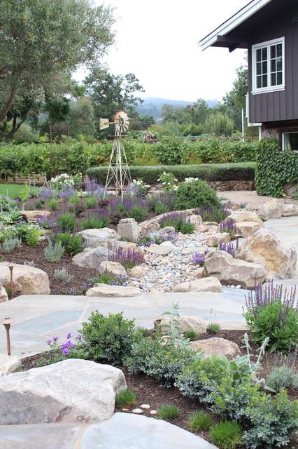 Sonoma back yard renovation mediterranean landscape for Sonoma garden designs