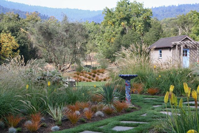 South african style in woodside california for Landscape architects south africa