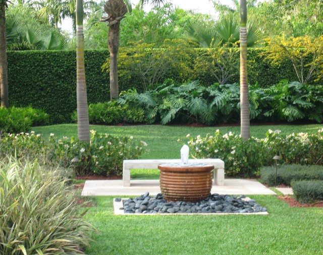 South Florida Garden Contemporary Landscape Miami
