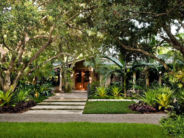 South Miami Garden Tropical Landscape By