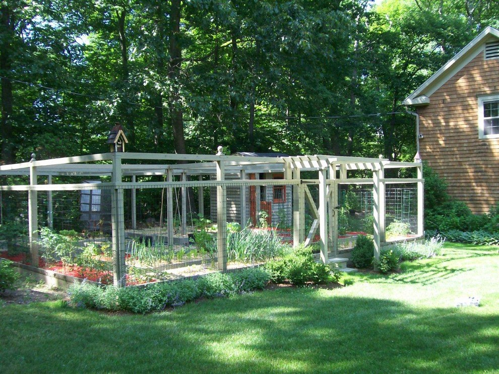 Photo of a traditional vegetable garden landscape in New York.