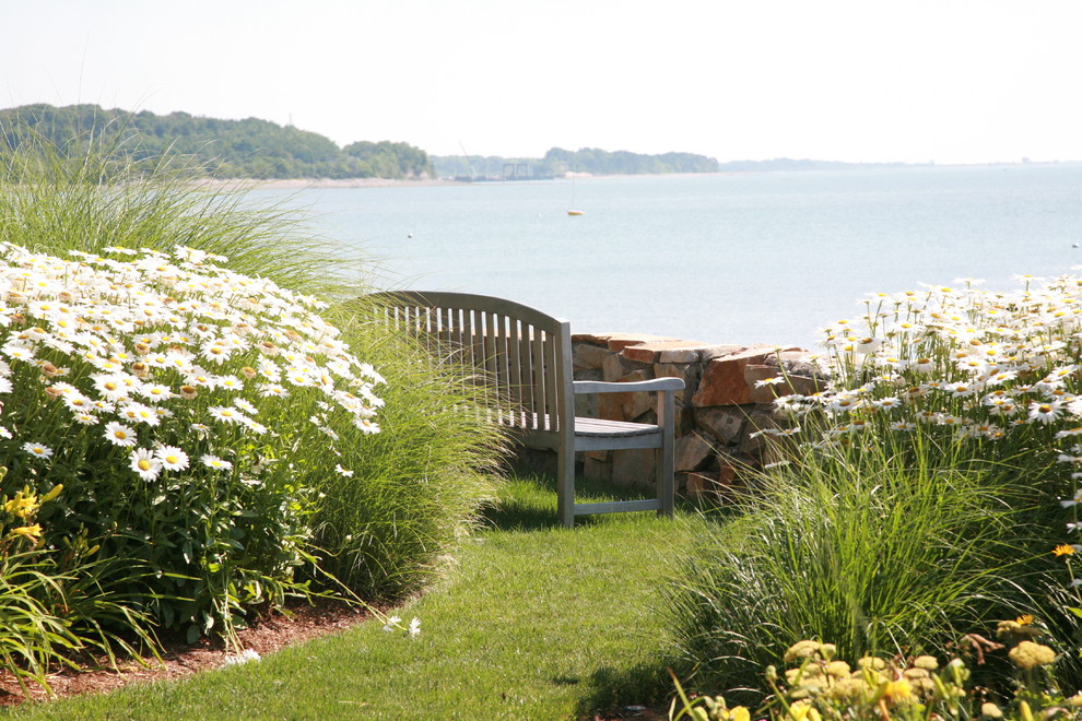 Inspiration for a coastal landscaping in Boston.
