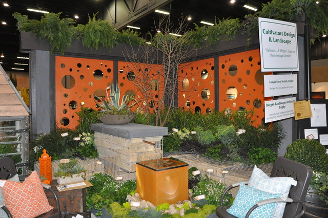 Southeastern Flower Show Display contemporary-landscape