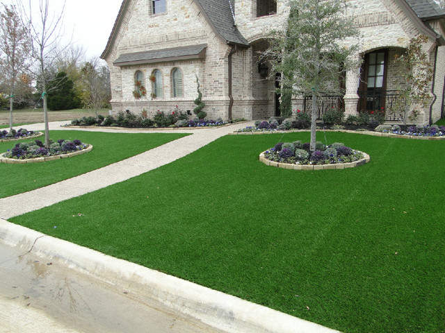 Southlake Front Yard Contemporary Landscape Dallas
