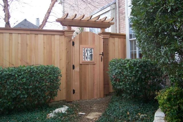 Southwest Fence Deck Fences And Gates Traditional Landscape - Backyard gate ideas