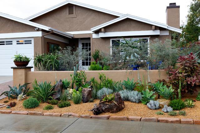 Frontyard landscape ideas southwestern landscape san diego by singing gardens - Backyard design san diego ...