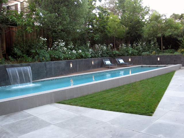 Narrow Backyard Pool : Spa Oasis  Modern  Landscape  san francisco  by Shades Of Green