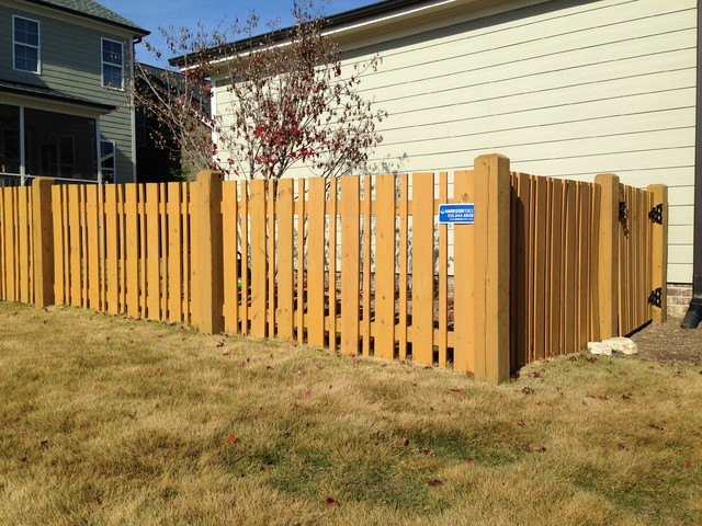 Space Picket Semi Private Traditional Home Fencing And