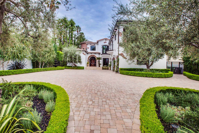 Marvelous Spanish Colonial Revival Makeover   Entrance Mediterranean Landscape