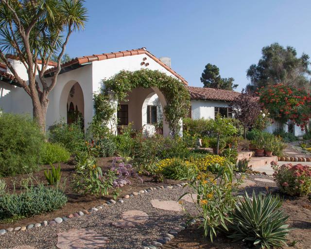 Spanish Hacienda Mediterranean Landscape San Diego