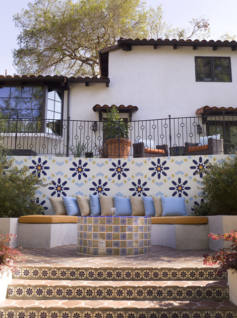 spanish revival tile spanish revival mediterranean landscape los angeles
