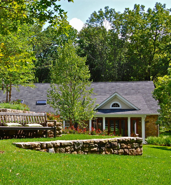 Spec home goes custom eclectic-landscape
