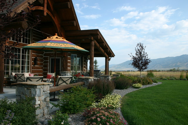Springhill area residence bozeman mt rustic landscape for Springhill designs