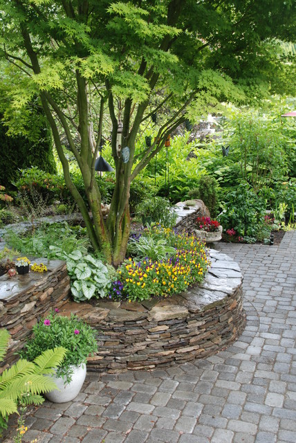 Houzz Stone Wall Raised Gardens Beds