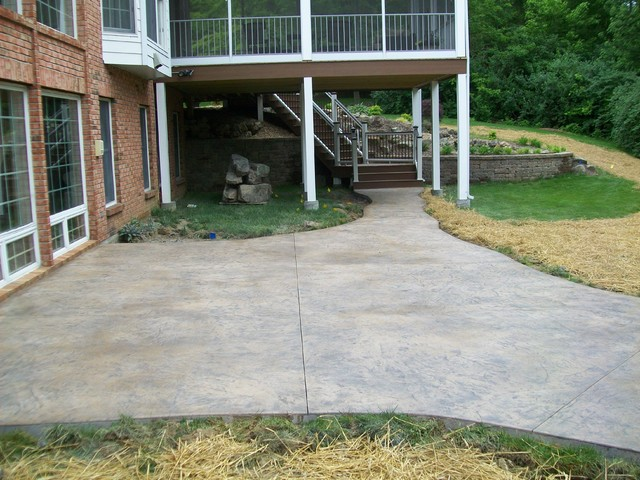 Stamped Concrete Projects traditional-landscape