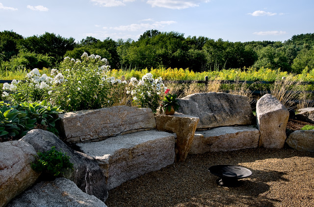 Staycation rustic landscape boston by charles c for Country garden designs landscaping