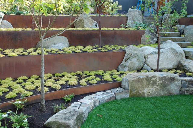 Uphill Backyard Landscaping 11 design solutions for sloping backyards