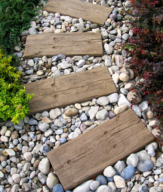Good Stepping Stonesu2014Log Sleepers Modern Garden
