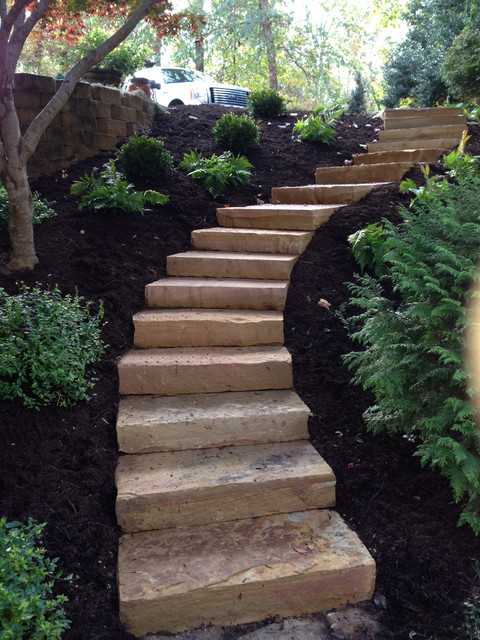 steps and hardscape landscape
