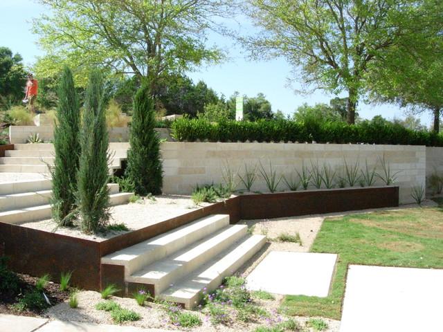 steps modern-landscape
