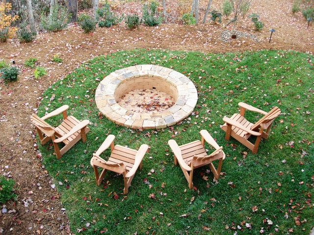 Adirondack Chairs Fire Pit Backyard Ideas