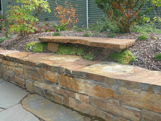 Stone Benches Contemporary Landscape Seattle By