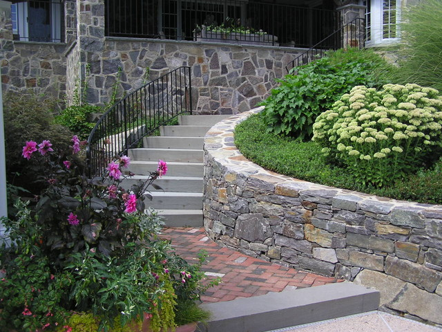 Stone Cottage Renovation traditional-landscape
