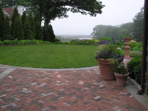 Traditional Interlocking Bricks Landscape By Newmarket Architects Designers Woodburn Company Architecture Llc