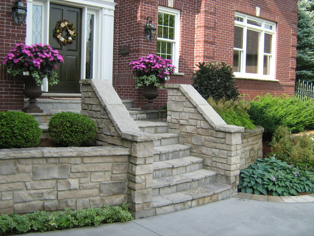 Stone Entrance Steps Traditional Landscape Toronto