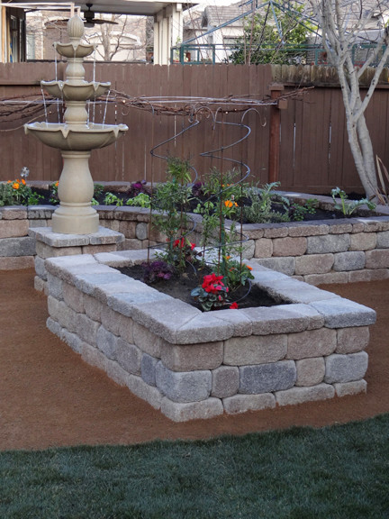 Stone garden planter box - Traditional - Landscape - Other ...