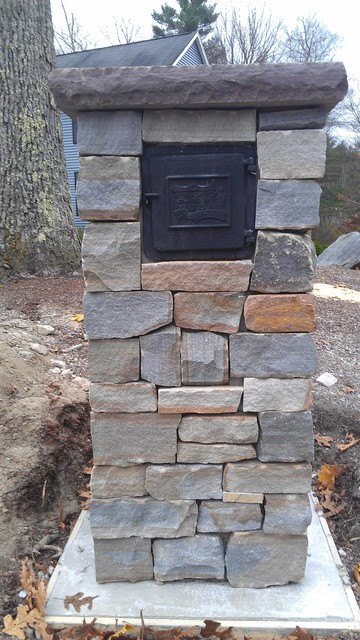 Stone Mailbox Rustic Landscape Boston By Patios N