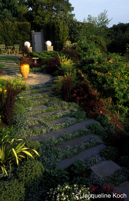 Stone path traditional landscape
