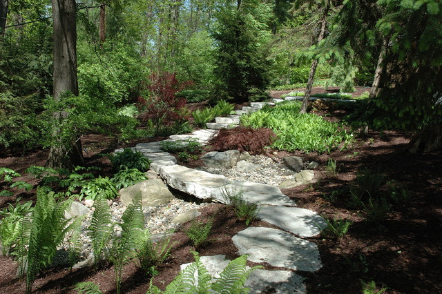 Stone Pathway and Woodland Garden