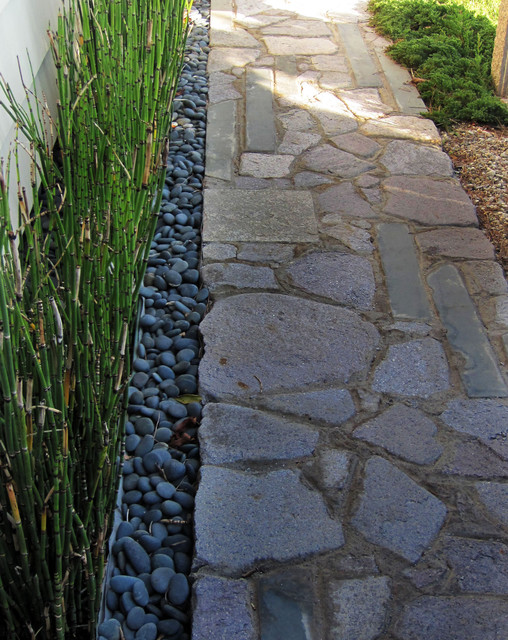 Stone pavers asian landscape