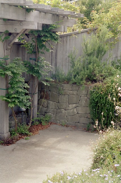 Stone Retaining Wall contemporary-landscape