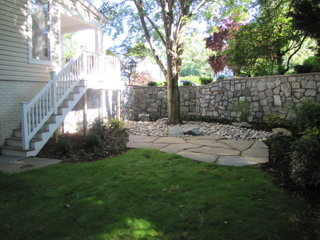 Stone Retaining Wall Traditional Landscape Dc Metro