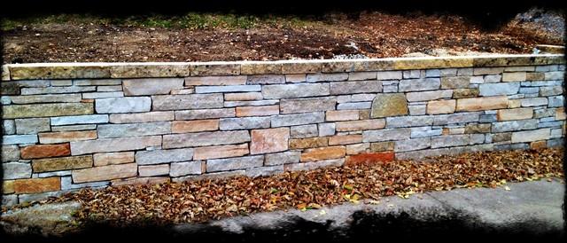 Stone Retaining Walls contemporary-landscape