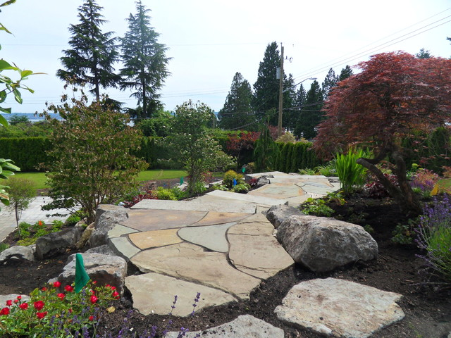 Stone stairs rustic landscape vancouver by for Landscaping rocks vancouver