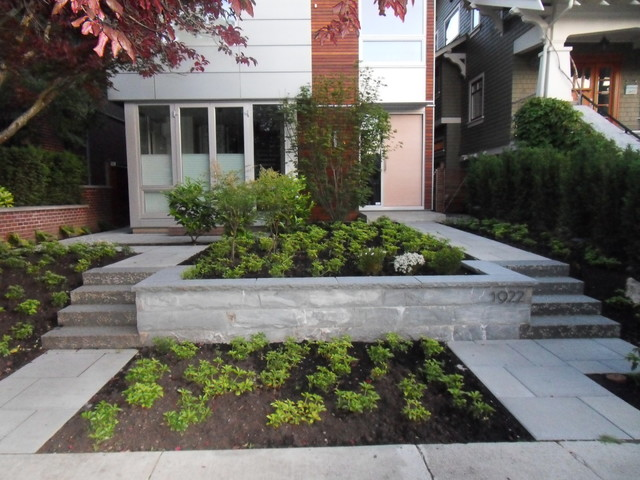 Stone stairs contemporary landscape vancouver by for Landscaping rocks vancouver
