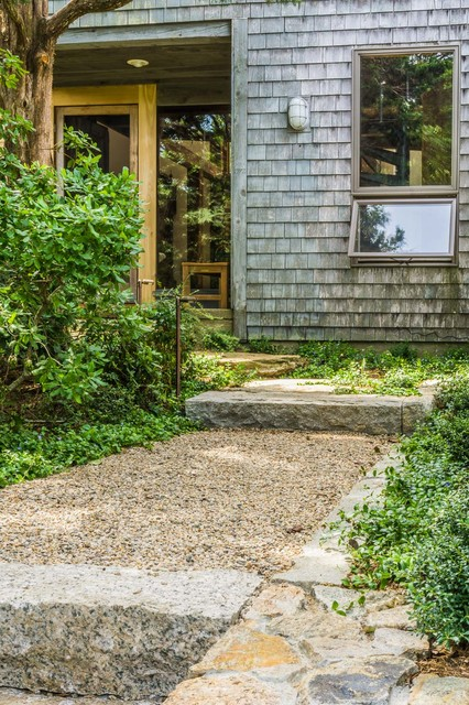 Stone Steps Pea Stone And Front Entrance Cape Cod Ma