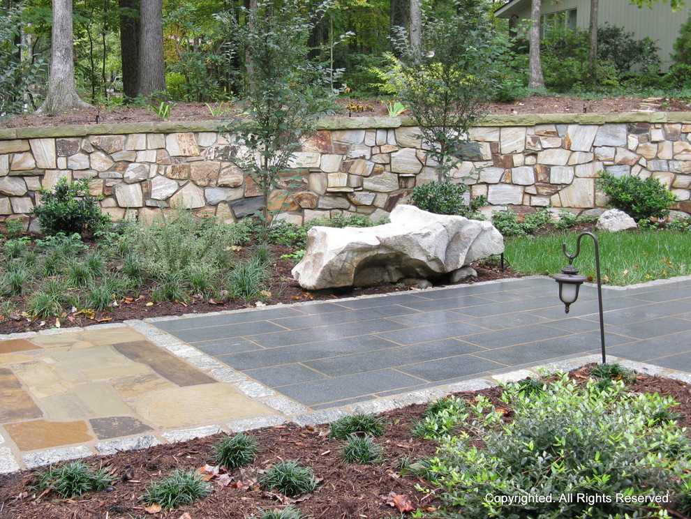Stone Walkway And Entry Cary Nc Contemporary