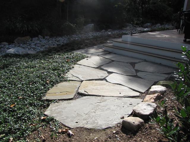 Stone Walkway Detail Traditional Landscape Dc Metro