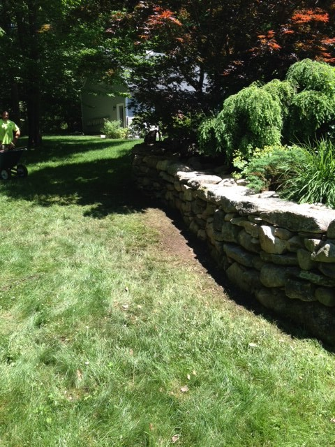 Landscaping Stones Portland Maine : Stone wall midcentury landscape